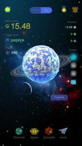Crypto Galaxy Main Screen