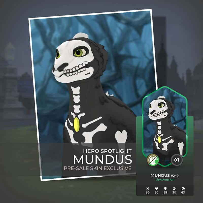 Mundus is the cheapest character in War of Crypto to buy during the presale.