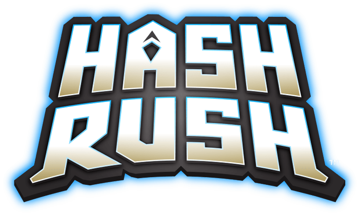 Hash Rush Blockchain Mining Game Logo