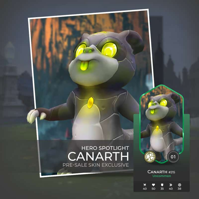`Canarth War of Crypto Champion with the Robot Skin available in Presale.