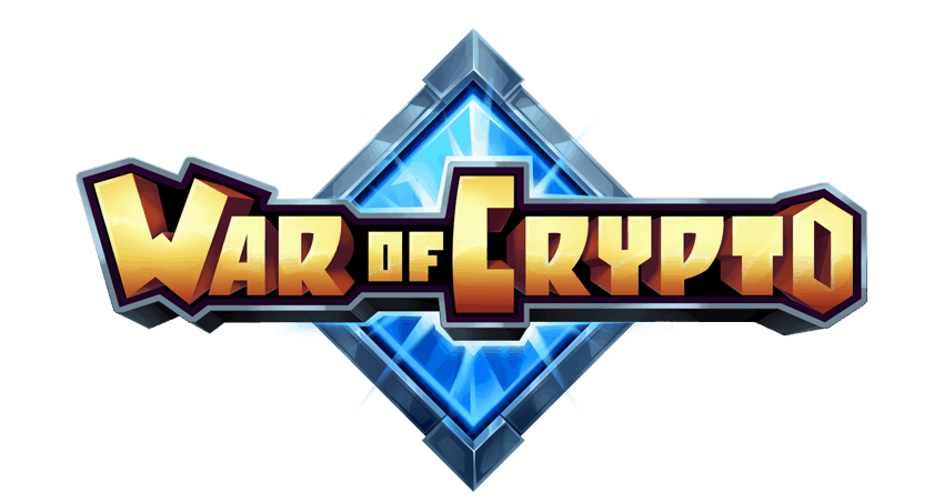 War of Crypto Logo Blockchain Game