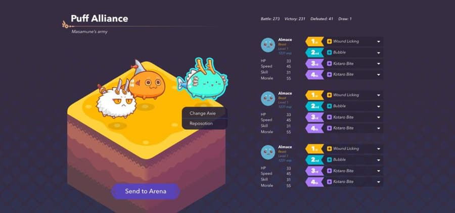 Axie Infinity New Team Selection UI Preview