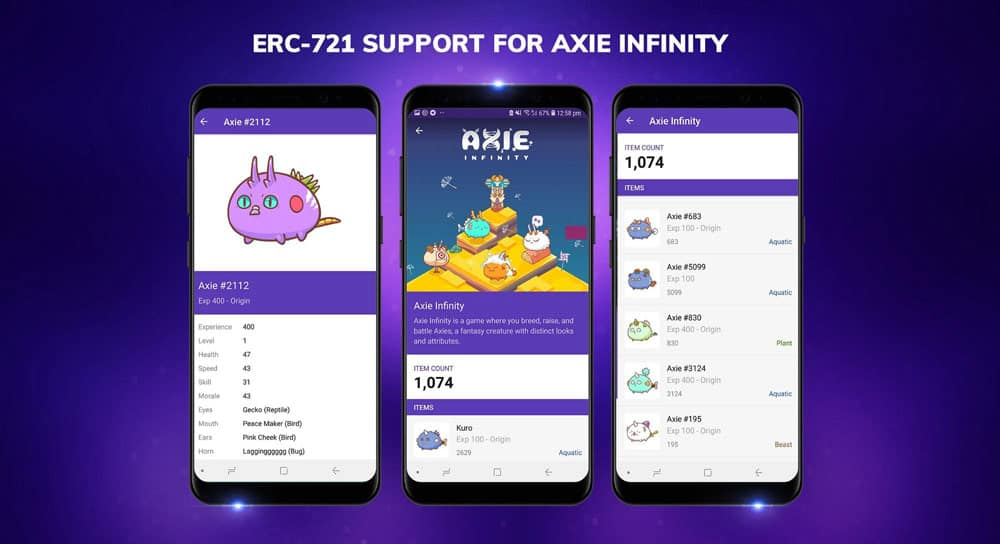 Axies Infinity Blockchain Cryptocollectible Game Now Available in Enjin Smart Wallet