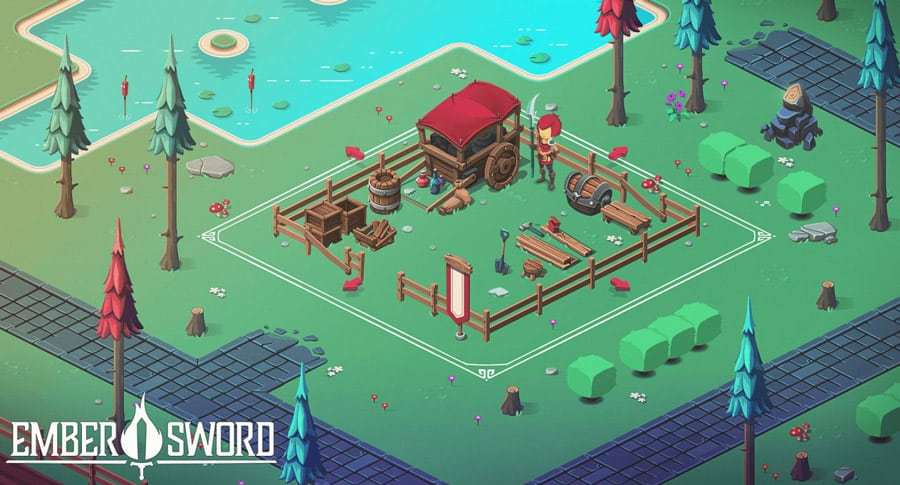 Ember Sword Blockchain Game MMORPG