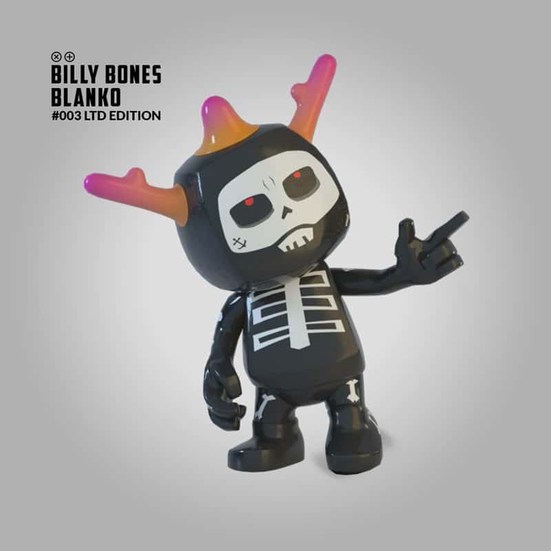 Blankos figure billy bones nft