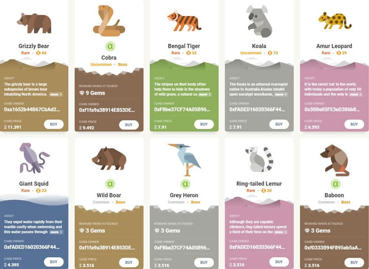 CryptoServal Animals Marketplace