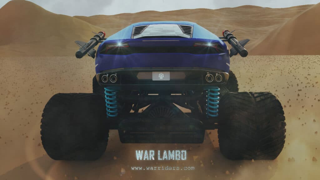 War Riders Blue Lambo From Back