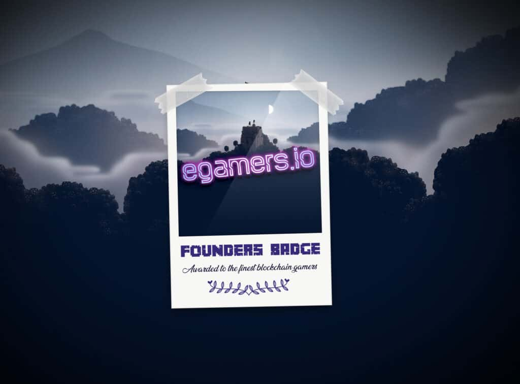 Founders Badge - The first ever minted Badge for blockchain gamers by egamers.io using Enjins Blockchain Technology.