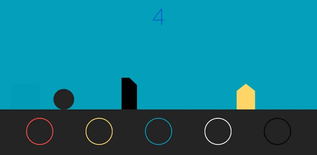 Color shifter blockchain game