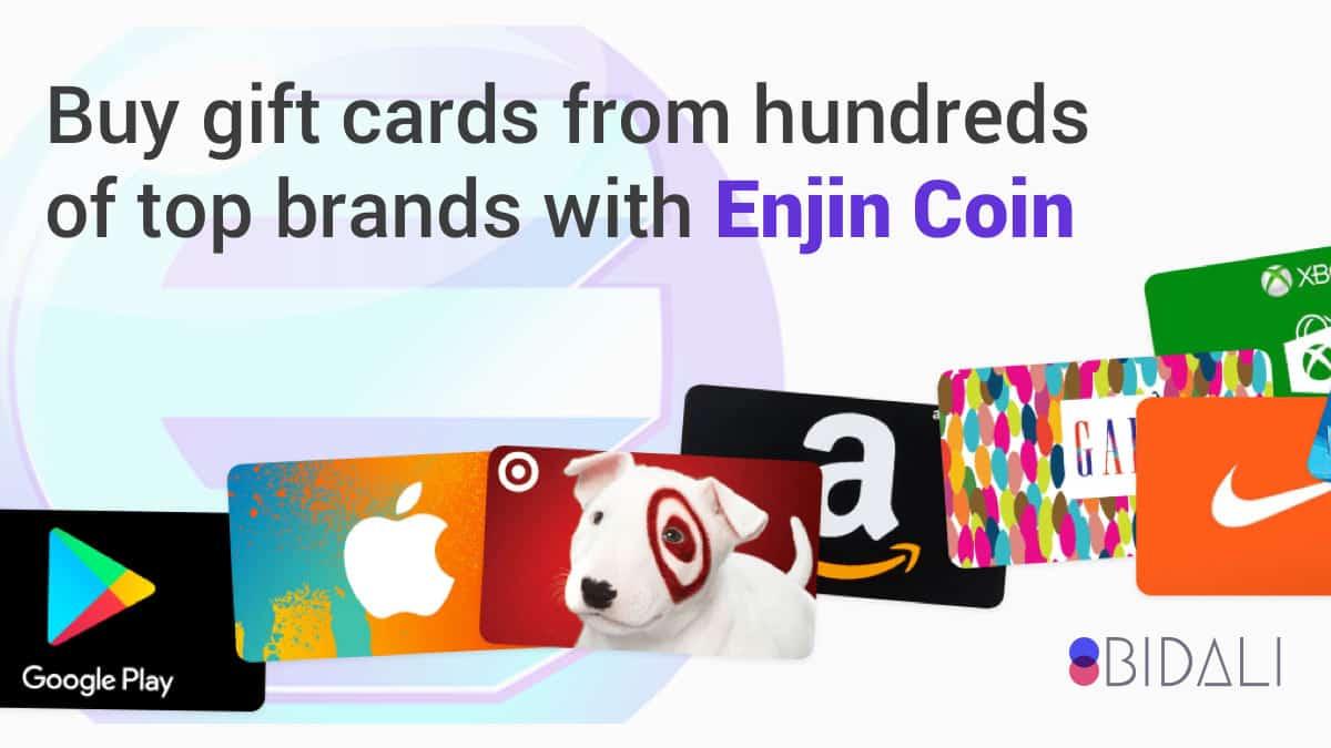 ENJIN Gets into Gift Cards & Online Payments via Bidali