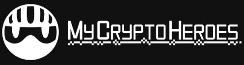 my crypto heroes logo blockchain game