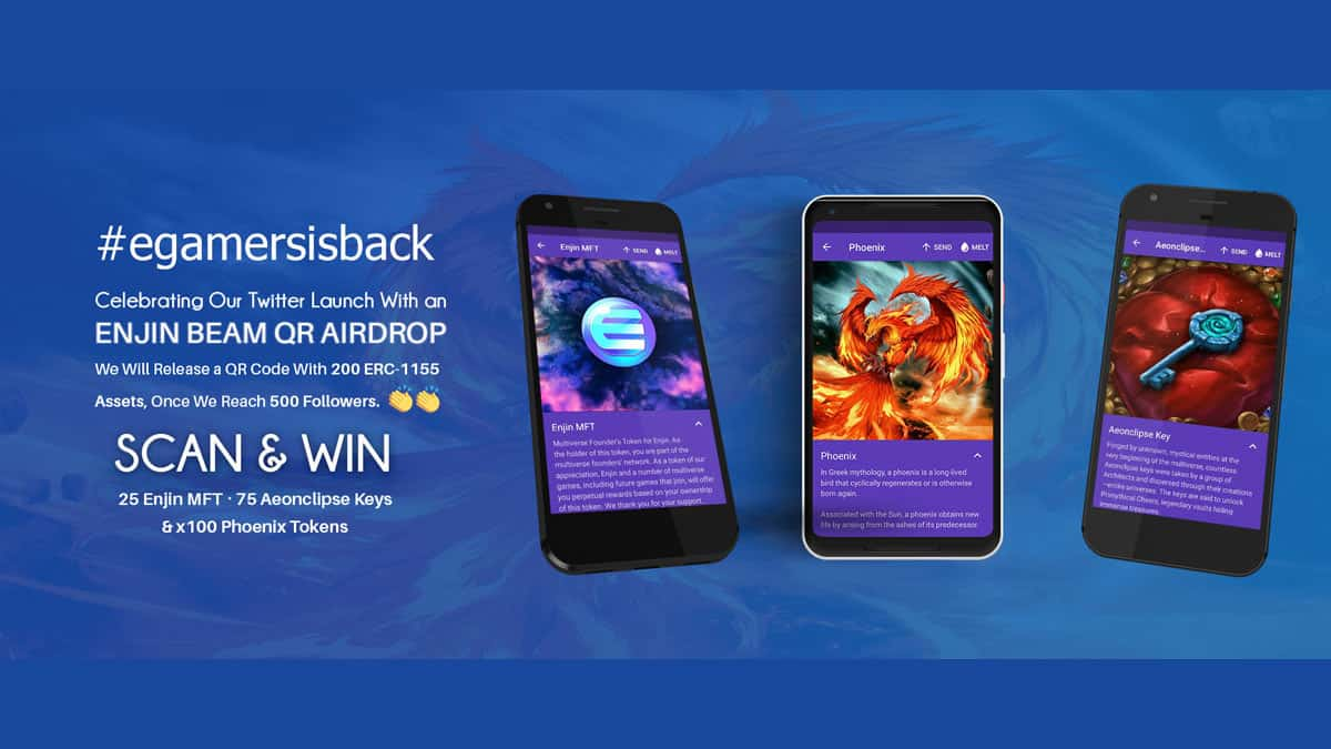 Celebrating our New Twitter With an Enjin Beam Giveaway