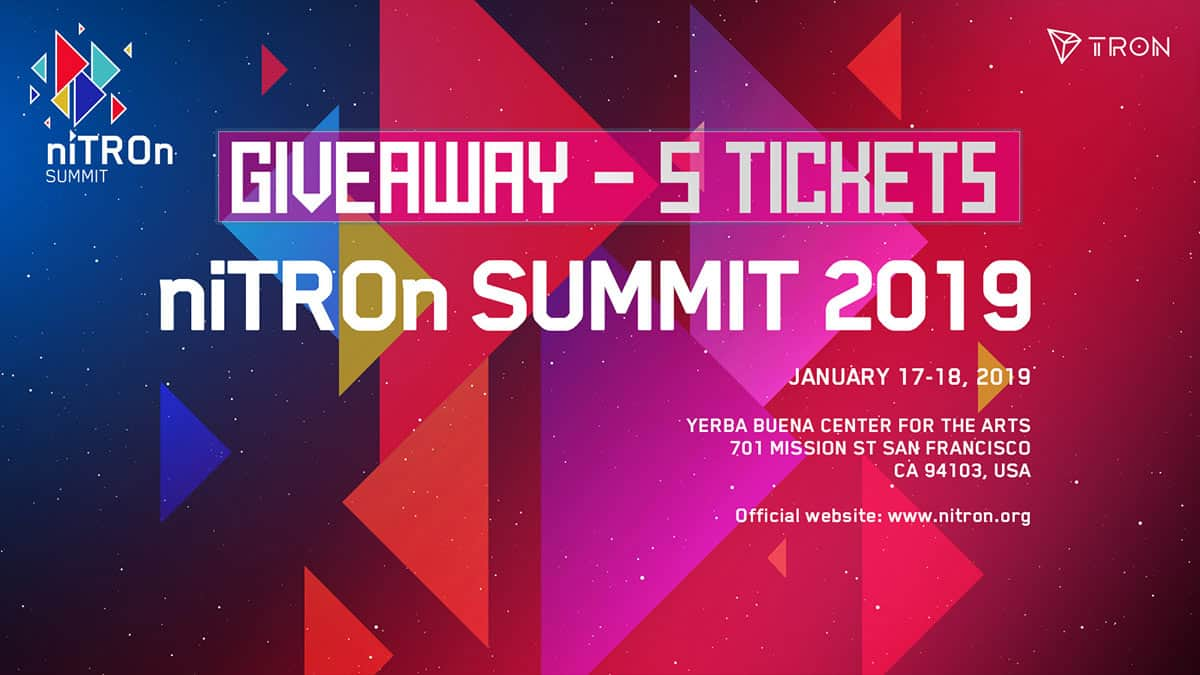 niTROn Summit - 5 Tickets Giveaway