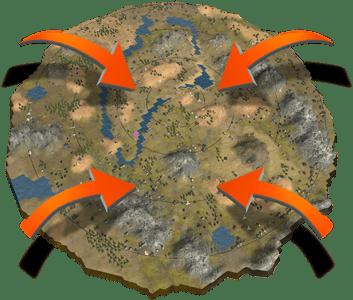 CryptoAssault BlockchainGame MMO strategy CryptoGame map