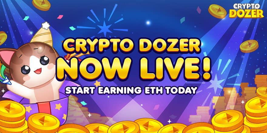 CryptoDozer coin pusher crypto game blockchain gaming