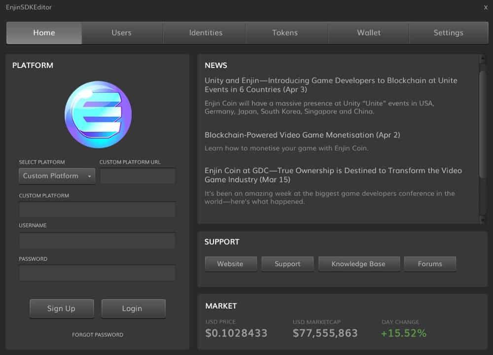 Enjin Blockchain SDK Unity Store Egamers Crypto Games Blockchain Gaming News Community Portal