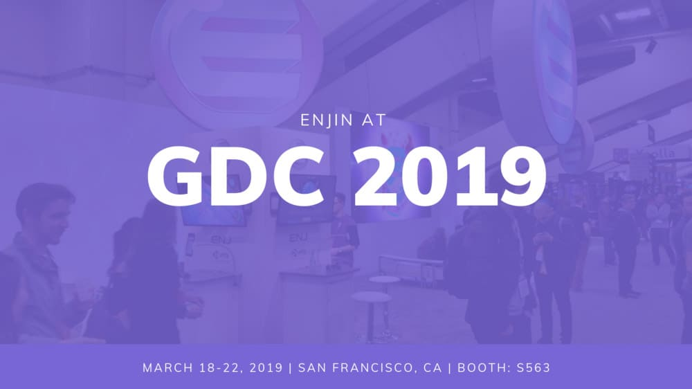 Enjin GDC Event Egamers Crypto Games Conferecnce gaming