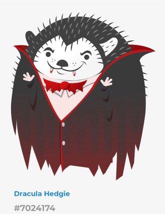 Hedgie dracula hedgie special