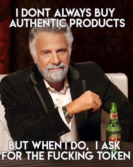 authenticity token erc1155 meme egamers