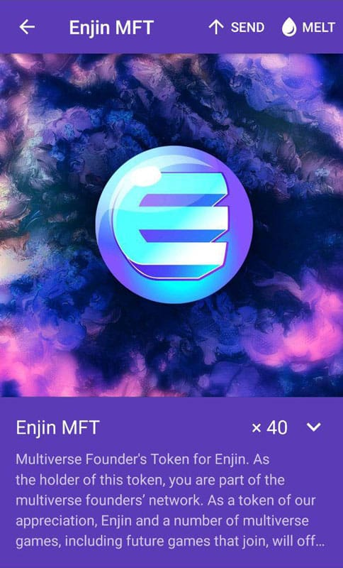 Enjin MFT Multiverse Founders Token for global guerillas event
