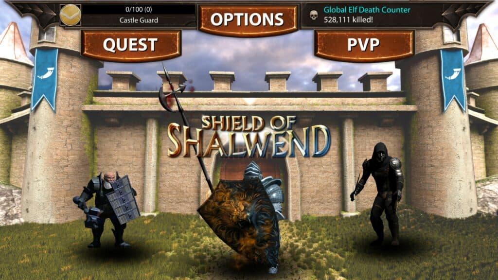 shield of shalwend main screen