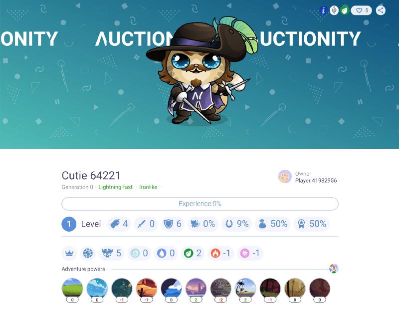 auctionity cutie egamers blockchain cuties