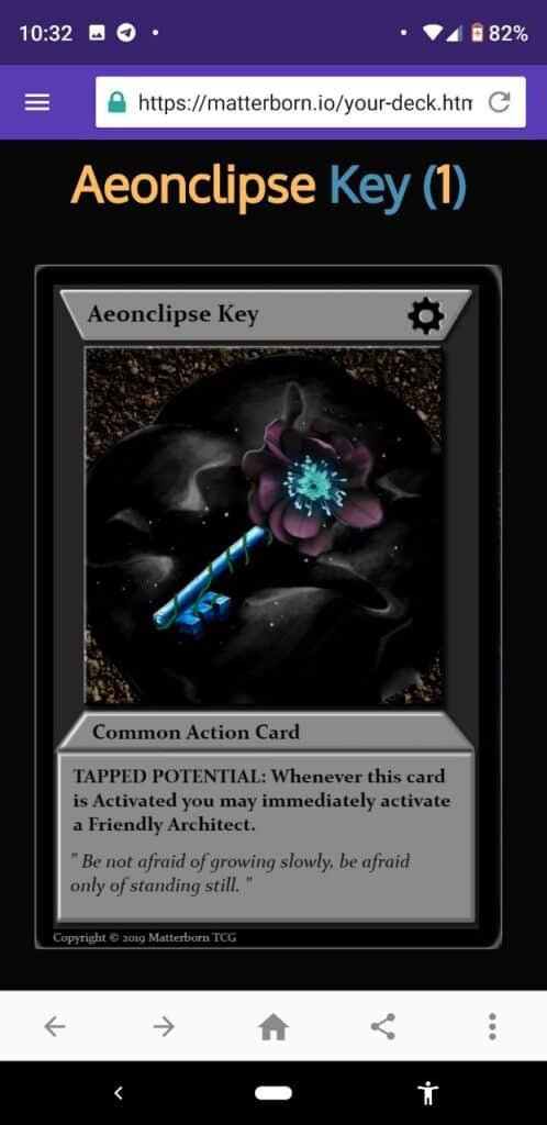 Aeonkey matterborn