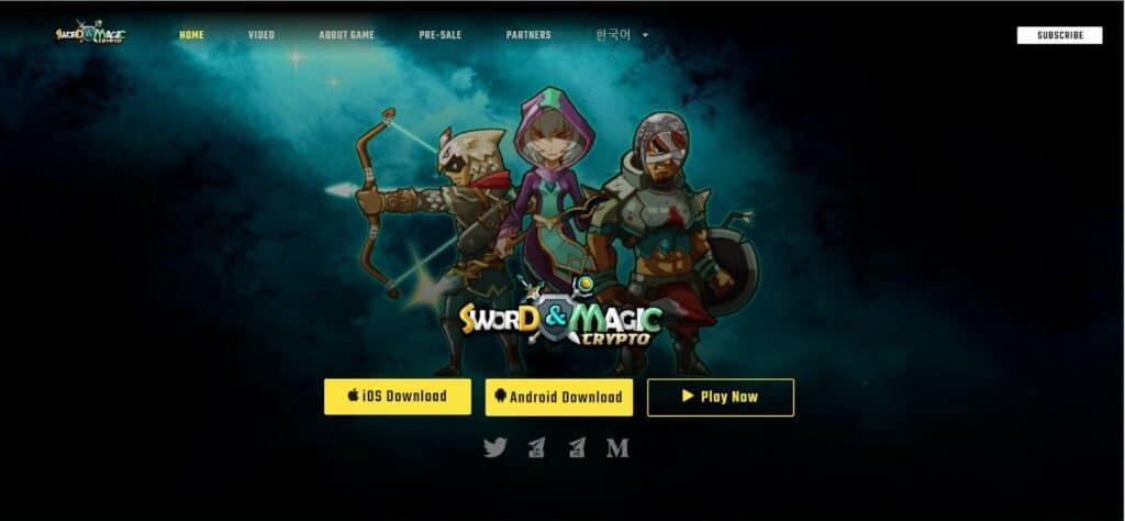 Crypto SwordandMagic EOS Blockchain Game CryptoGames