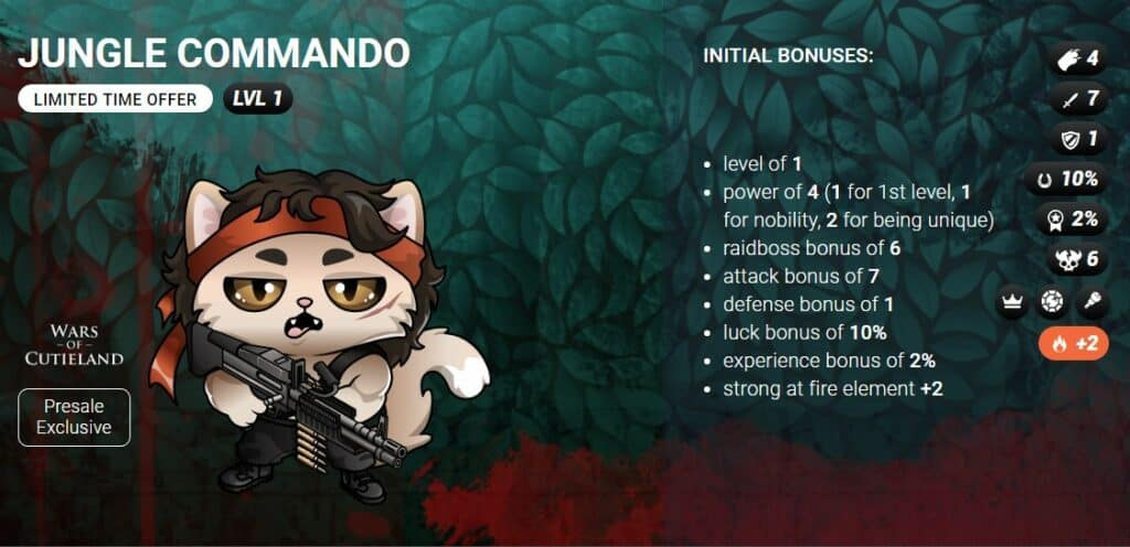 jungle commando egamers blockchain cuties