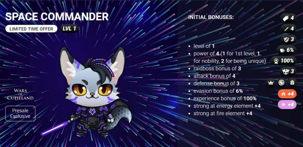 space commander blockchain cuties crypto gaming egamers