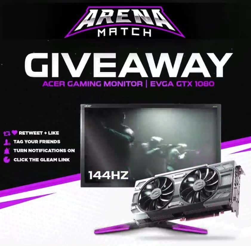 ARENA MATCH Giveaway BlockchaingAMES Crypto Gaming egamersio
