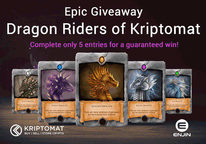 DragonRiders Kriptomat Enjin Giveaway crypto Exhange Multiverse