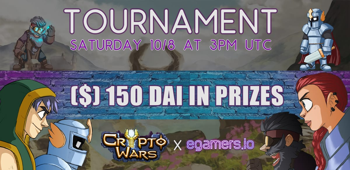 egamers cryptowars tournament