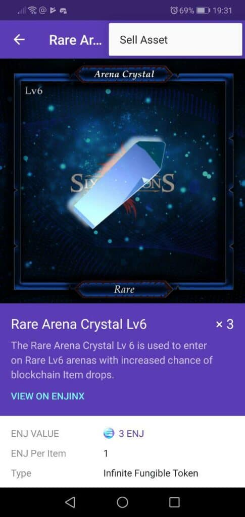 Rare Arena Crystal The Six Dragons Item Sale Enjin Marketplace