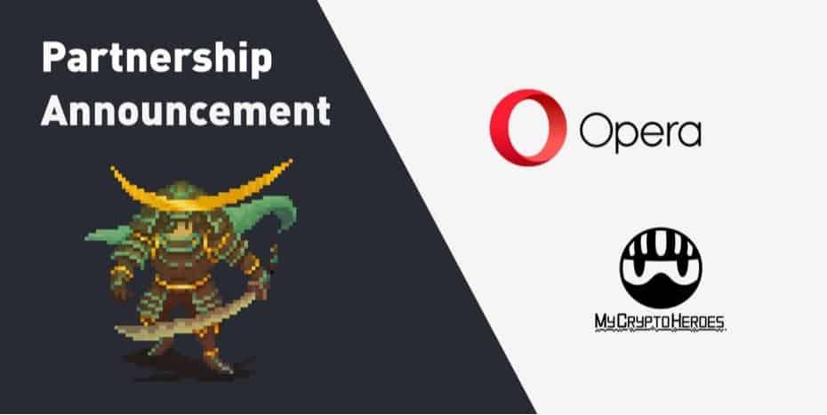 mycryptoheroes opera partnership