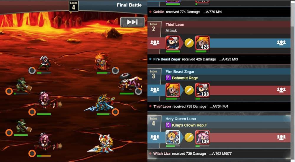 brave frontier heroes quest gameplay
