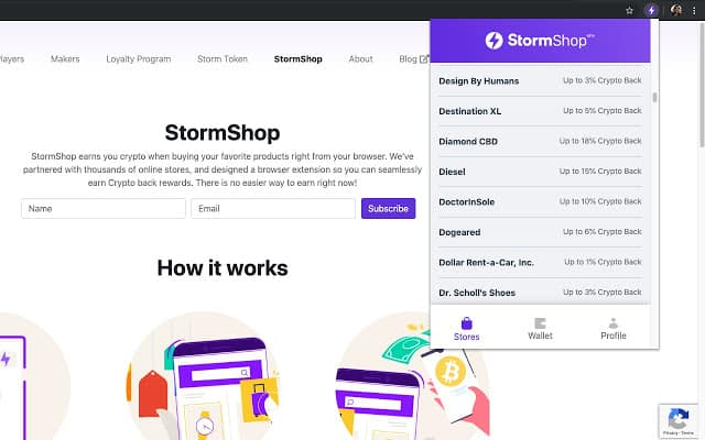 storm shop cash back