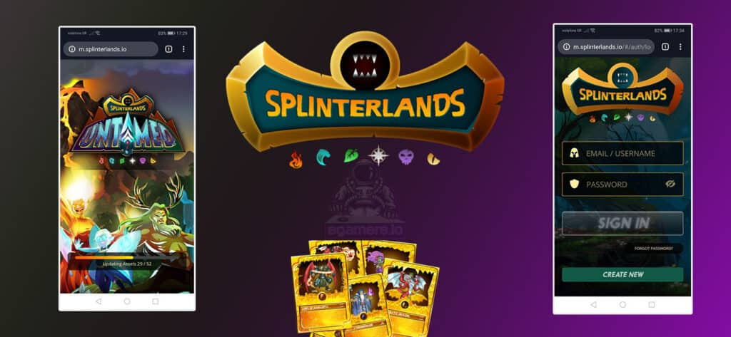 Splinterlands mobile application play from mobile 1