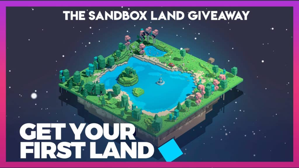 TheSandbox Land Giveaway Ethereum BlockchainGames eGamersio