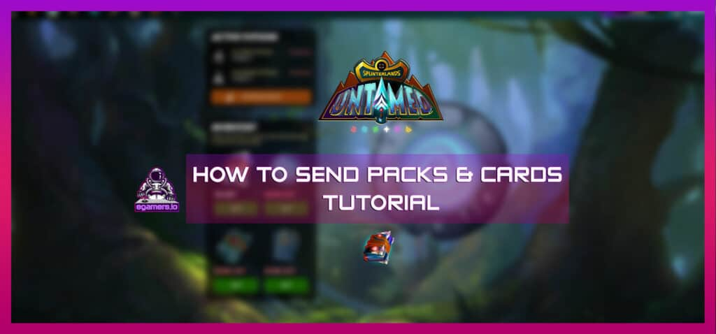 how to send splinterlands packs and cards to other users blockchain game