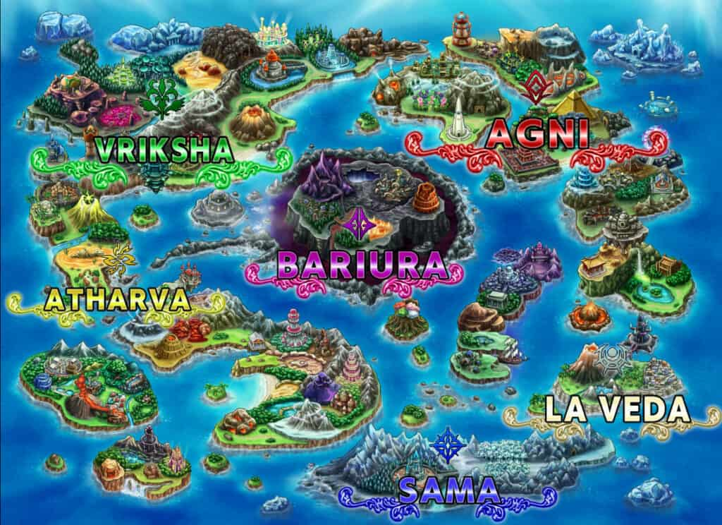 Land map in brave frontier heroes