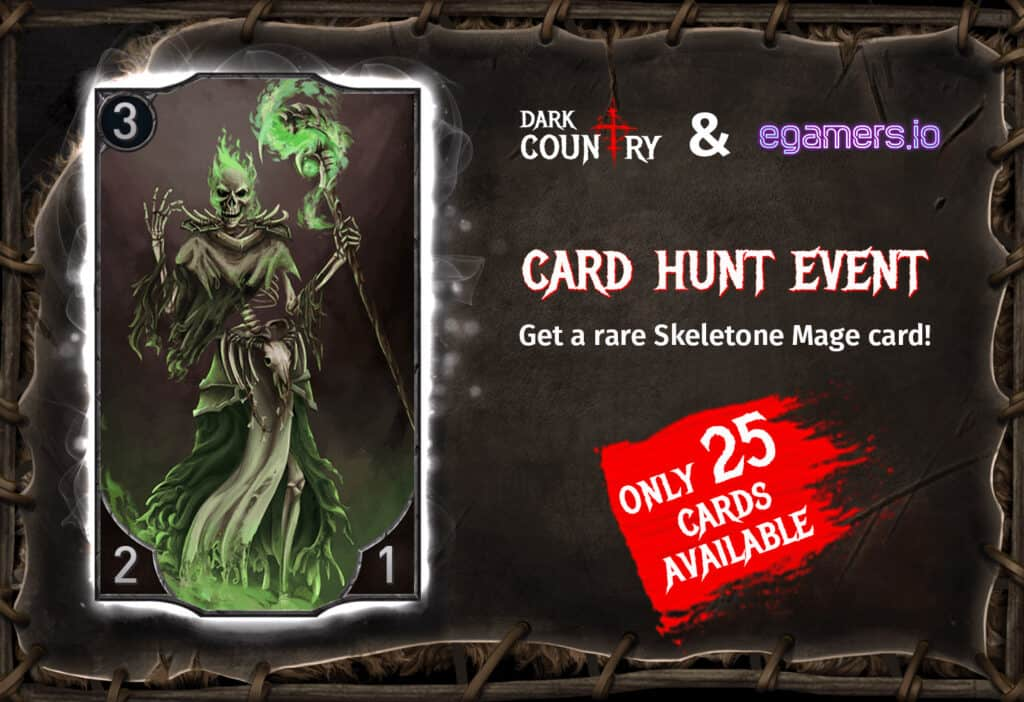 Dark Country & egamers card hunt event