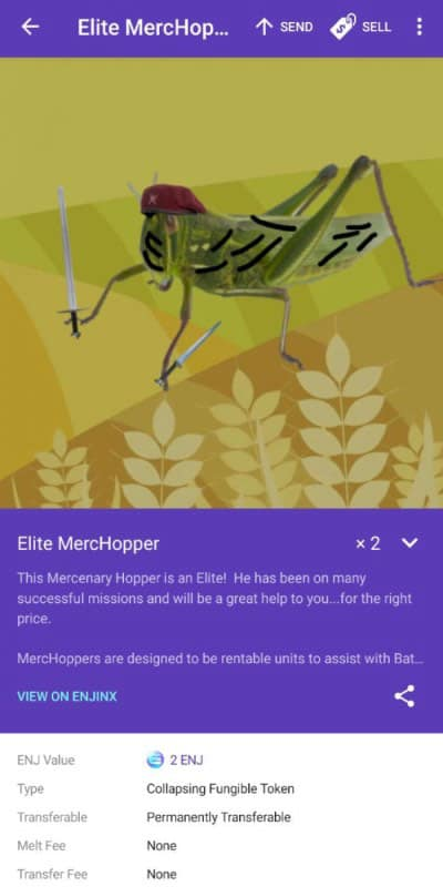 elite merchop grasshopper