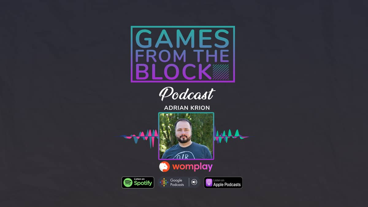 Adrian Krion on Games From The Block Podcast talking about Womplay and Wombat