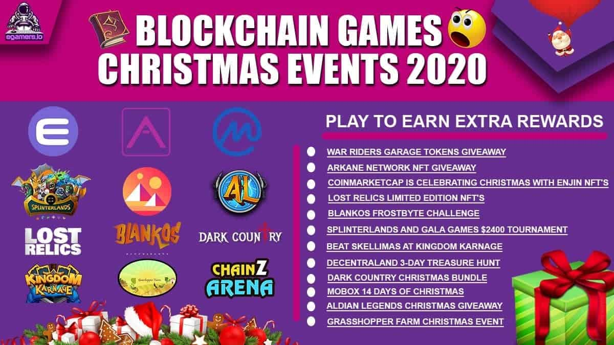 Blockchain Games Christmas Events 2020