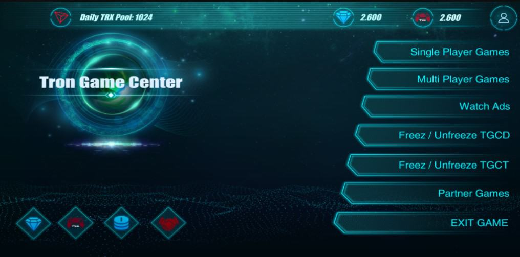Tron Game Center App