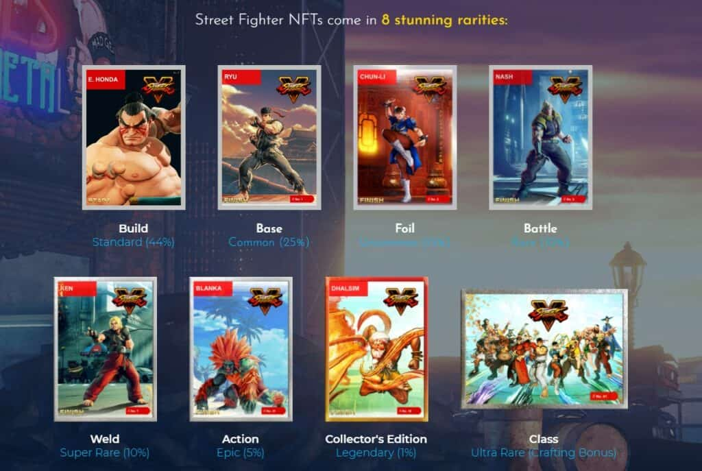 Street Fighter Collectibles cards rarities
