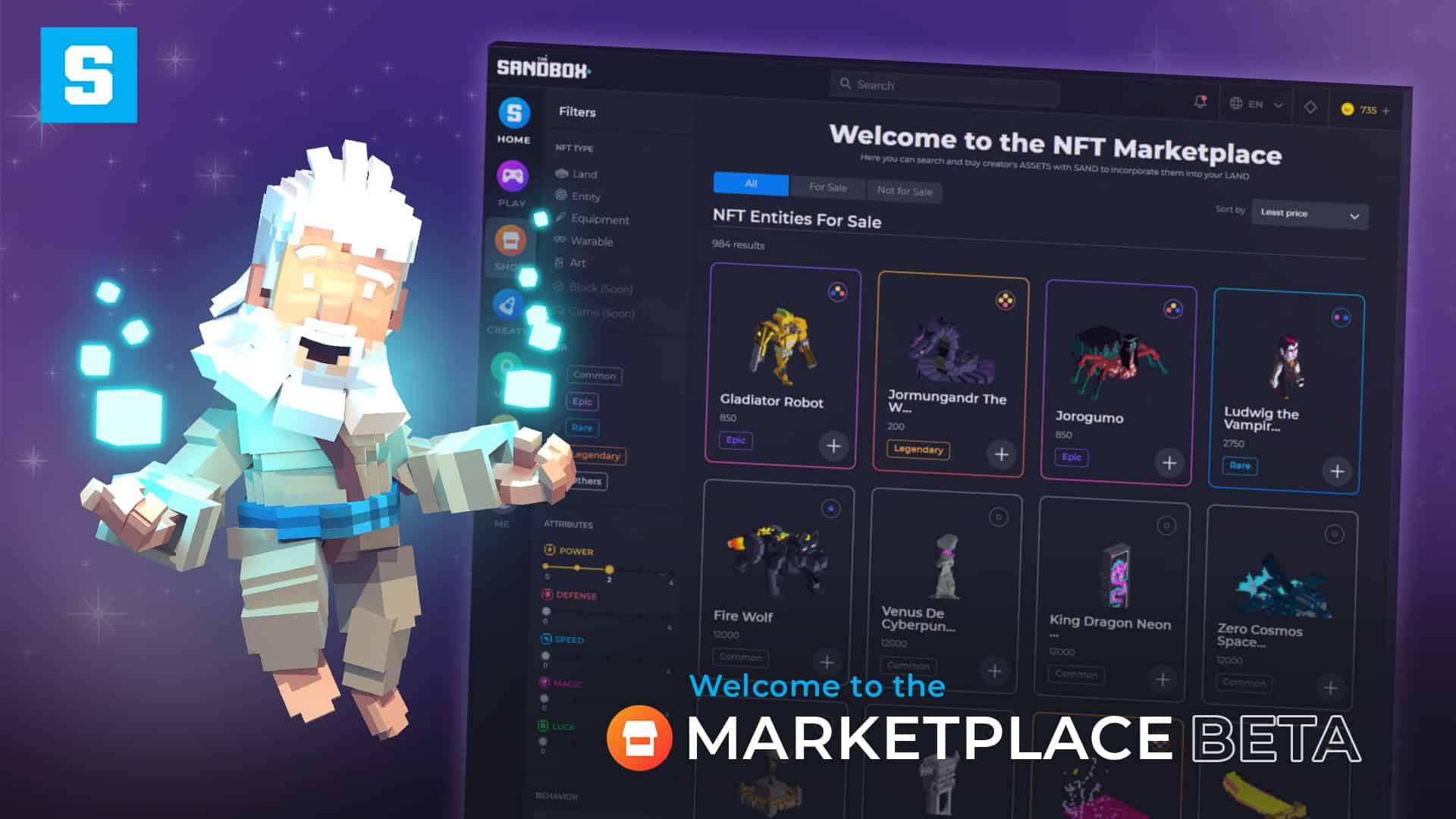 The Sandbox Marketplace Beta