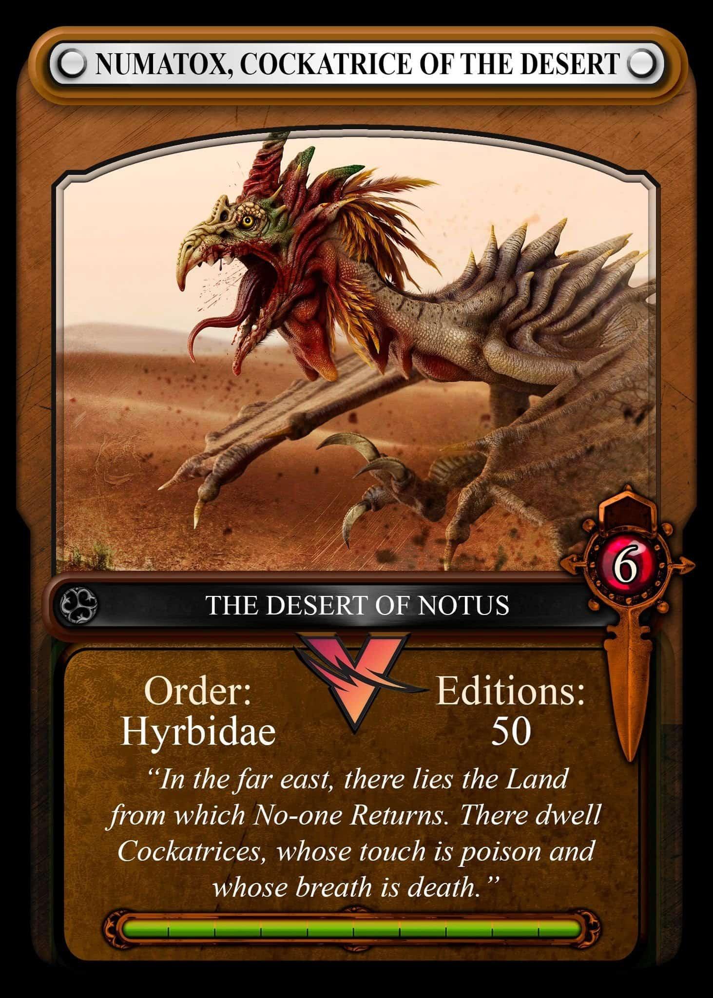 Desert of Notus Card Vulcan Forged