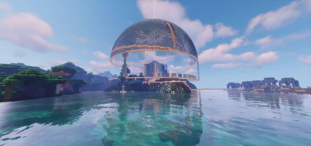 Londom Landmark in Uplift Minecraft World.